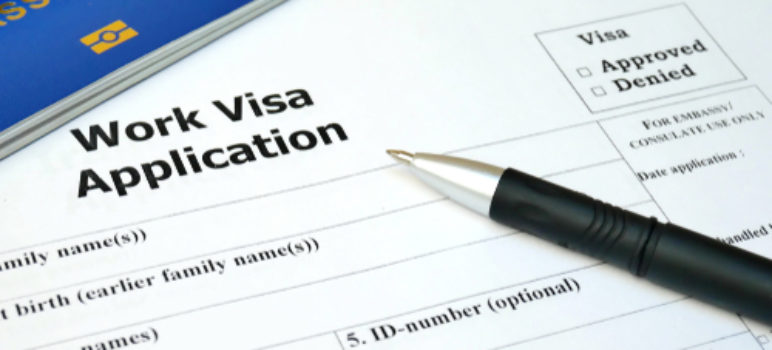 example of a work visa application